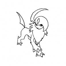 coloriage absol Coloriage