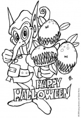 Coloriage MONSTRE HALLOWEEN - Coloriage d'un lutin