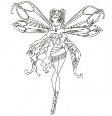 Cool Winx Layla Enchantix Coloring Page By Timefairy Dsl - deColoring