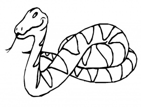 Coloriage Le serpent et dessin à colorier Le serpent avec