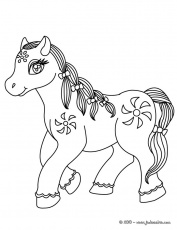 Coloriages CHEVAL - Cheval Kawaii