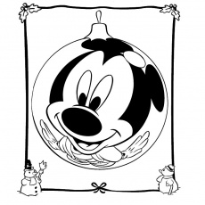 mickey noel Coloriage
