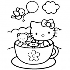 coloriage hello kitty gratuit a colorier