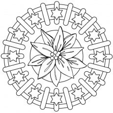 mandala triangle Coloriage