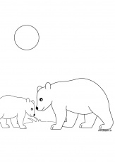 ours facile Coloriage
