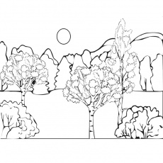 paysage Coloriage