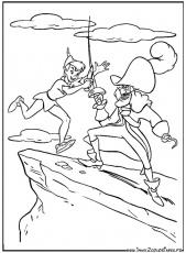 Coloriages du film d'animation de walt Disney : Peter Pan - dessin