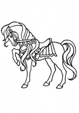 Coloriages CHEVAL - Chevaux sauvages galopants