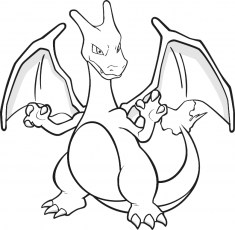 coloriage pokemon dracaufeu