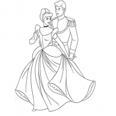 Coloriage Cendrillon : coloriage.