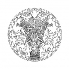 mandala dragon Coloriage