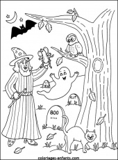 Les Coloriages d'halloween - page 1