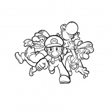 coloriage de mario kart ds Coloriage