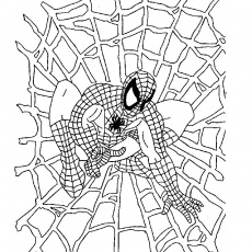 Coloriage Halloween spiderman a Imprimer Gratuit