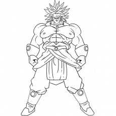 coloriage de dragon ball z coloriage dragon ball z broly - o.k. U X