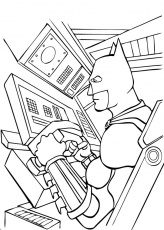 Coloriage BATMAN - Batman aux commandes