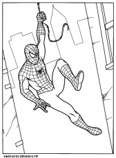 Coloriages de Spiderman a imprimer - spiderman a manhattan