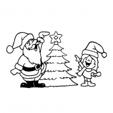 coloriages sapin noel