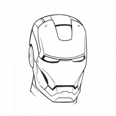 masque super-hero Coloriage