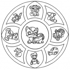 mandala de pet shop