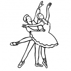 danse jazz Coloriage