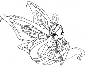 enchantix layla colouring pages Coloriage