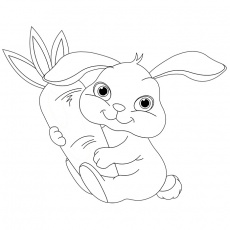 Coloriage bebe lapin