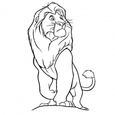 david et le lion Coloriage