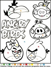 ice angry bird Coloriage
