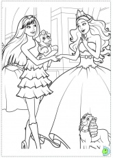 Barbie princesa popstar Coloriage