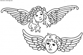 coloriage anges, dessin anges, anges Coloriage N°5838