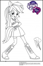 coloriage my little pony equestria girls Coloriage