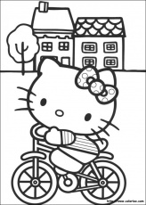 coloriage hello kitty 324 - Blub