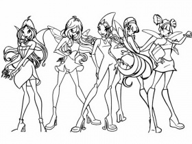 winx bloomix flora Coloriage