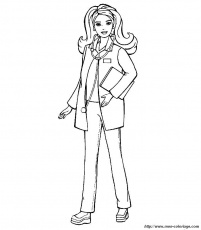 Coloriage de Barbie, dessin coloriage de barbie à colorier