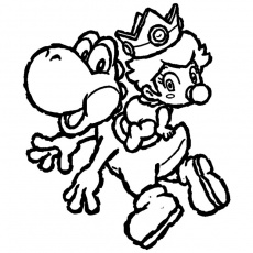 Coloriage bébé peach super mario