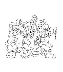 mickey et minnie noel Coloriage