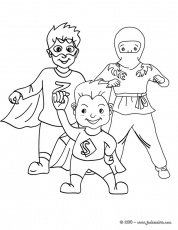 Coloriage CARNAVAL COSTUMES - Coloriage costume carnaval super-héros