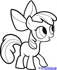 my little poney apple bloom Coloriage