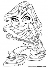 Coloriage fille avec guitare - img 20061