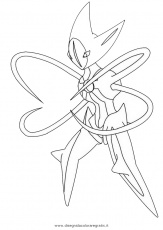 coloriage pokemon deoxys