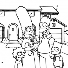 coloriage simpson colorier