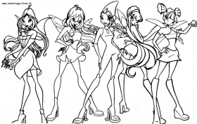Coloriages interactifs WINX