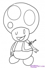 coloriage toad Colouring Pages