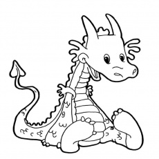 dragon mignon Coloriage