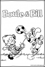 Coloriages de boule bill - boule et bill le film
