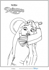Coloriages Les Princesses Disney - La Princesse Raiponce