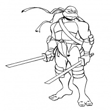 Tortue Ninja Coloriage 1
