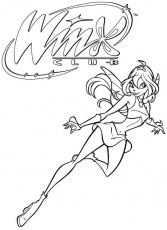 coloriage de winx club bloom