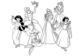 coloriage disney princesses